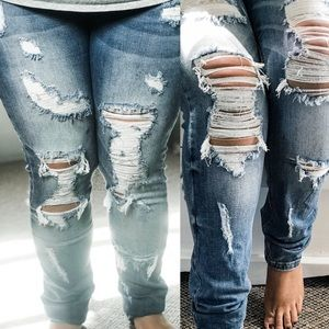 Heavy Distressed Aphrodite Distressed Jeans